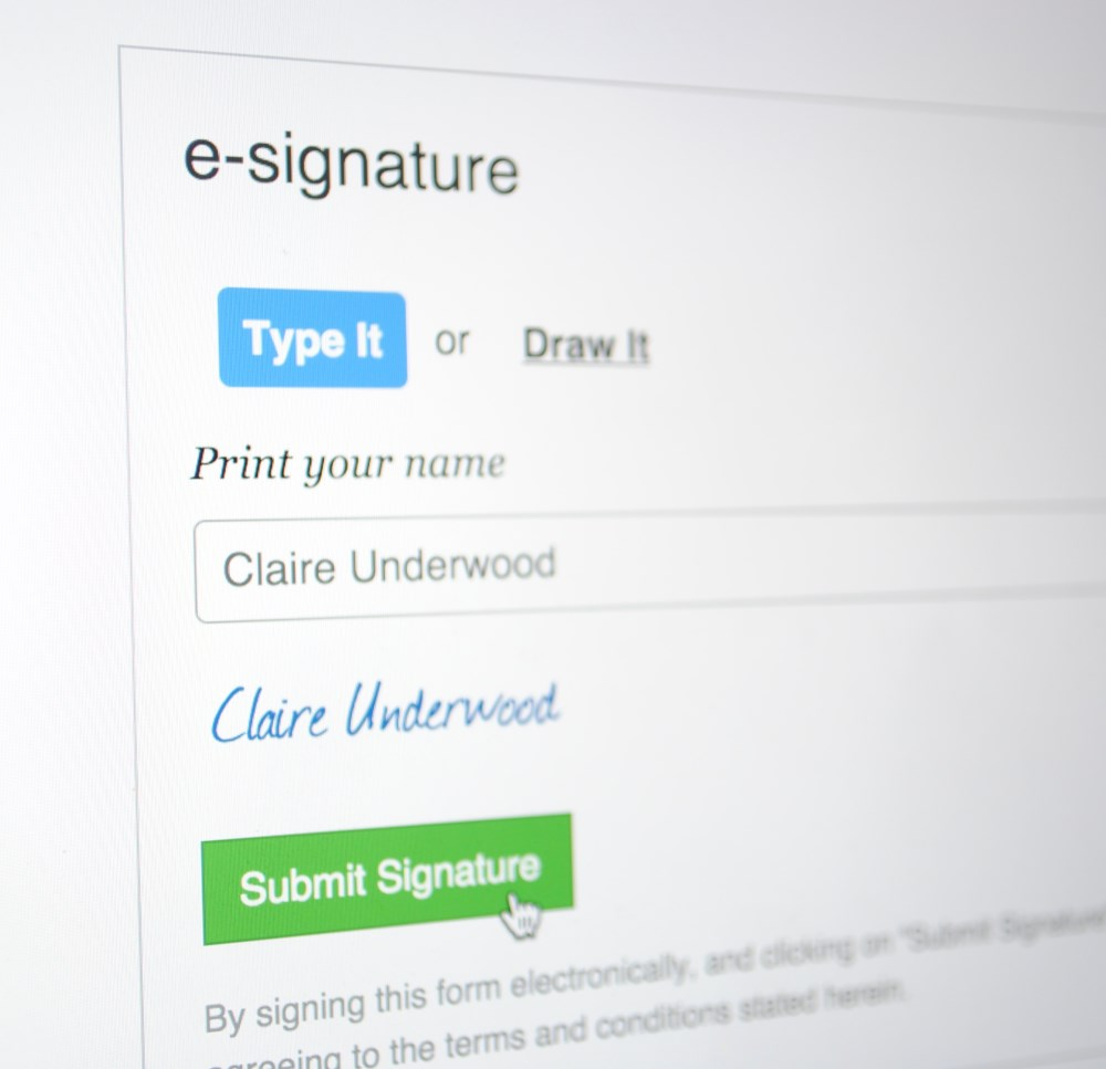 Patient Electronic Signature